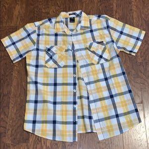 Men's Enyce Plaid Button Up Polo Sz XL